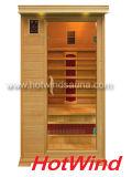 Sauna de madeira do quarto da sauna do infravermelho 2016 distante para 1 pessoa (SEK-DP1)