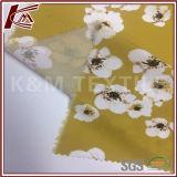 Tela 100% do Crepe do poliéster da cópia do teste padrão de flor