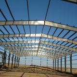 La construction préfabriquée de structure métallique de grande envergure/a préfabriqué l'entrepôt en acier
