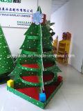 Étalage de carton d'arbre de Noël pour la décoration, présentoir de papier de palette avec 5 plateaux contenant 80kg robuste et intense