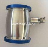 Tipo sanitário da esfera da válvula de verificação do aço inoxidável com as extremidades da virola e o dreno manual
