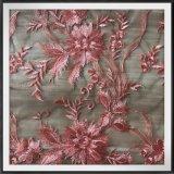 Вышитый цветком шнурок вышивки Tulle шнурка вышивки сетки шнурка Nylon