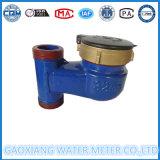 Moldeada azul de hierro del contador del agua Vertical