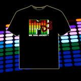 Camiseta del EL de la música LED del equalizador del gradiente