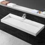 Superfície contínua da mobília do banheiro acima da bacia de lavagem contrária (161221)