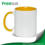 Presentes promocionais Atacado Inner Red Color Ceramic Sublimation Mug Blank