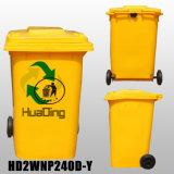 contenitore di rifiuti di plastica 240L per esterno