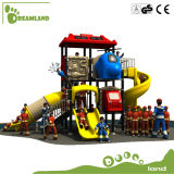 China Park Equipment Outdoor Playground com plástico Slide