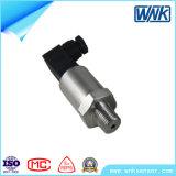 4-20mA chinês, sensor cilíndrico da pressão do aço 1-5V inoxidável para o secador do ar
