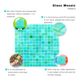 Umweltfreundliche Material-deckt blaues Mosaik-Badezimmer einfaches Buntglas mit Ziegeln