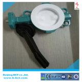 A alavanca opera a válvula de borboleta alinhada PTFE/NBR/EPDM Bct-F4bfv-4 da bolacha