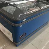 Grande congelatore dell'isola unito della cassa di capienza gelo automatico per alimento Frozen