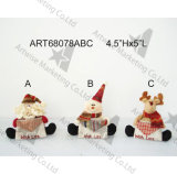 """4.5 """" ornament-Kerstmis van Kerstmis van het Land van H Dierlijke Decoratie"""