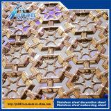 스테인리스 장식적인 스크린 장식적인 판금 돋을새김된 널 색깔 장식적인 격판덮개