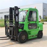 Heißer Verkauf 3 Tonnen-Dieselgabelstapler mit Kabine-und Gabel-Stellwerk-und Seiten-Schieber
