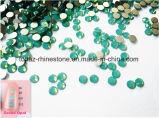 Ss6 1.9-2.1mm 녹색 단백석 비 최신 고침 모조 다이아몬드 편평한 뒤 못 예술 결정 (FB ss6 녹색 단백석)