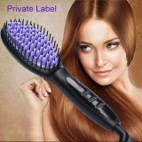 Étiquette privée Straightener Iron Digital Fast Hair Straightener Brush