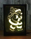 3D lumière de nuit de l'illusion DEL, lampe changeante progressive de Tableau du commutateur USB de contact de 7 couleurs pour des cadeaux de vacances ou des décorations à la maison
