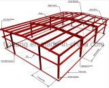 Chalet de la estructura de acero de Prebuilt/corte/cancha de básquet/gimnasio del balompié para la Arabia Saudita