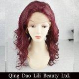 Parrucche piene dei capelli umani del merletto di colore di Lilibeuaty Ombre con le parrucche pre colte dei capelli di Remy dei capelli del bambino per le donne di colore