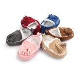 Baby-Mädchen Handmadetassel Plüsch-weichbesohlte Winter-Warmstart-Mokassin-erste Wanderer-Schuhe