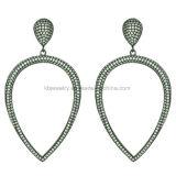 Boucles d'oreilles en émail en forme de 925 boucles d'oreilles en argent sterling avec pendentif en émail (KE3002)