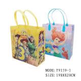 2017 sac en plastique personnalisé de cadeau d'achats de PVC en verre pp de lunettes de soleil de lunetterie de modèle de Disdney avec l'impression pour la promotion