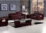 Sofa en bois avec le cuir véritable pour le sofa à la maison