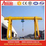 Único Girder Gantry Crane com Hoist