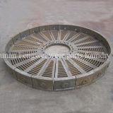 Alto piatto della griglia del manganese per estrazione mineraria della sfera