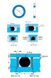Цветастое высокотемпературное колцеобразное уплотнение силикона сопротивления