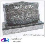 Pietra tombale inclinata del granito della natura delle decorazioni del cimitero singola