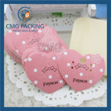 Розовая карточка с шлицем для загиба волос (CMG-064)