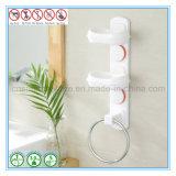 Supporto del contenitore di sapone della parete della tazza di aspirazione dei piatti di sapone degli accessori della stanza da bagno forte