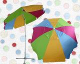 、Upf50+防水の多彩なファブリック高品質、日傘が付いている240cm*8kビーチパラソル