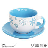 Feliz Navidad Holiday Season 8oz Cups y Saucers