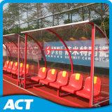 De mobiele OpenluchtBank van Sporten met Doorschijnende Schuilplaats voor Voetbal, Hockey, het Gebied van de Veenmol