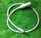 3.5mm Male aan Female Audio Extension Cable - White (10cm-Length)
