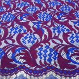 Ткань шнурка сказовой и самой последней индийской ресницы Saree шнурка африканская