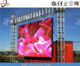 Alta visualización de LED al aire libre del brillo P16 de la exploración estática para Satium