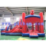 Дом прыжока шаржа детей зрелищности раздувная/раздувная кровать скачки ткани