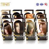 Natual coloré brillant durable semblant le colorant riche de couleur des cheveux