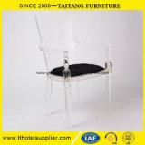 Großhandelspreis-haltbare Möbel-speisender Arm-Acrylstuhl