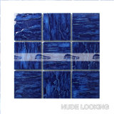 "4 "" x4 "" Wave Pattern Cobalt Blue Porcelain Swimming Pool Tile (BCP604)"