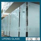 手すりまたは囲うことのための酸によってエッチングされるガラスによって砂を吹き付けられるガラス