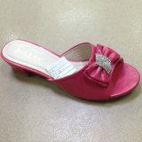 Nouveaux santals de poussoir d'unité centrale de chaussures de femmes de mode d'été de modèle (JH160523-1)