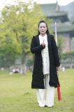 Capas de lino naturales gruesas del traje grueso de la caída y del invierno de las mujeres de la ji de Wudang Tai