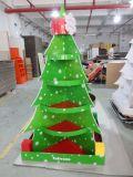 Constructeur d'étalage de carton de la Chine, étalage de carton d'arbre de Noël, présentoir de cadeaux, Fsdu