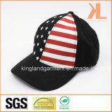 Бейсбольная кепка 100% черноты американского флага США сверла хлопка