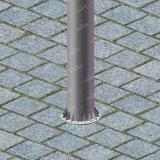 Cartelera lateral de la estructura de acero del formato grande tres de Unipole
